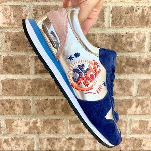 Tory Burch Colorblock Metallic Brielle Sneaker 6